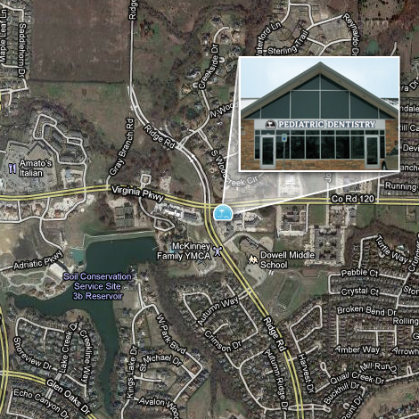 Location of McKinney Pediatric Dentistry